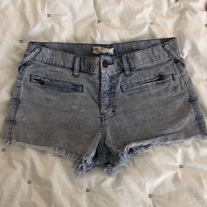 Free People Corduroy Frayed Shorts